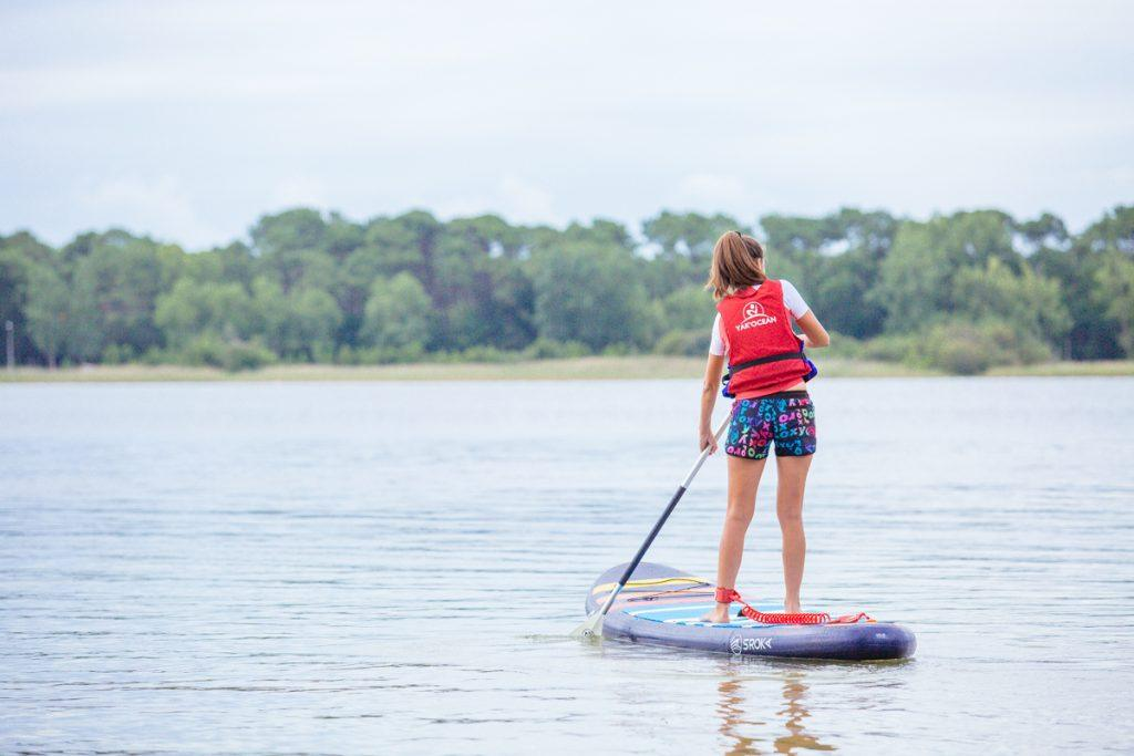 Stand Up Paddle sur le lac de sanguinet